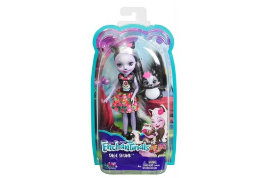 Enchantimals Lalka Sage Skunk Mattel DYC75