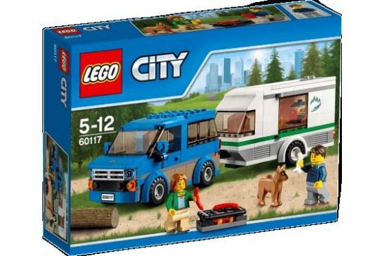 LEGO City Van z Przyczepą Kampingową 60117