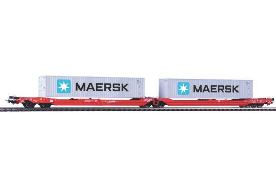 PIKO 54775 Podwójny Wagon Kontenerowy T3000e Maersk