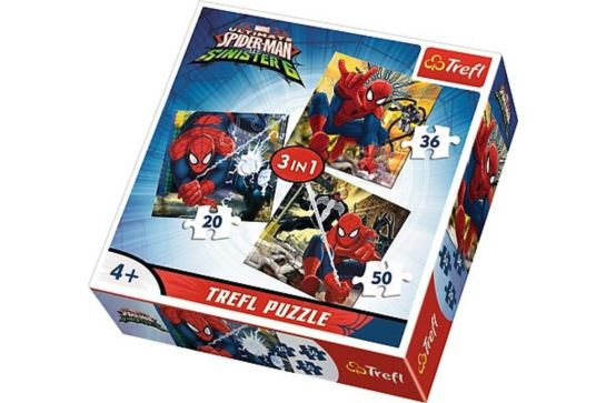 Puzzle 3w1 - Świat Spidermana Trefl 34822