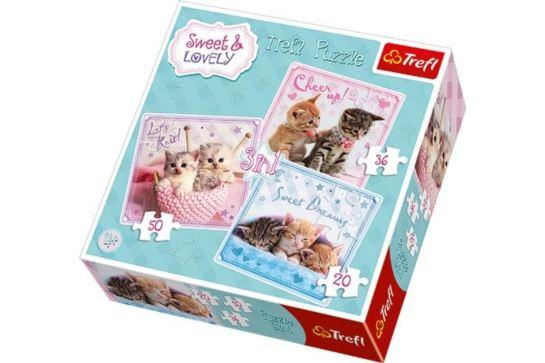 Puzzle 3w1 - Słodkie Kotki Trefl 34809