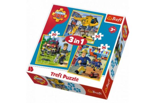 Puzzle 3w1 - Strażak Sam w Akcji Trefl 34844