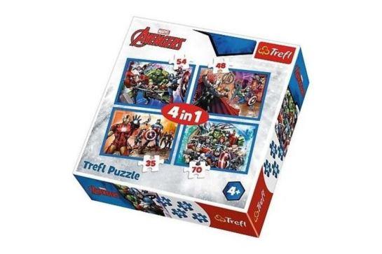 Puzzle 4w1 - Nieustraszeni Avengers Trefl 34310