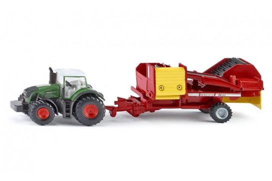 Traktor Fendt z Kombajnem Do Ziemniaków Siku 1808