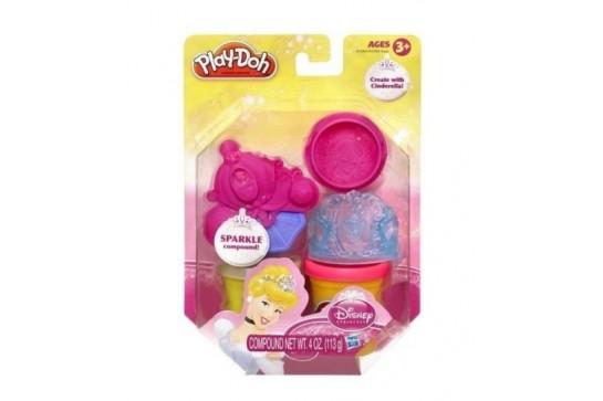 Ciastolina Play-Doh Kopciuszek Błyszczące Tuby Księżniczek