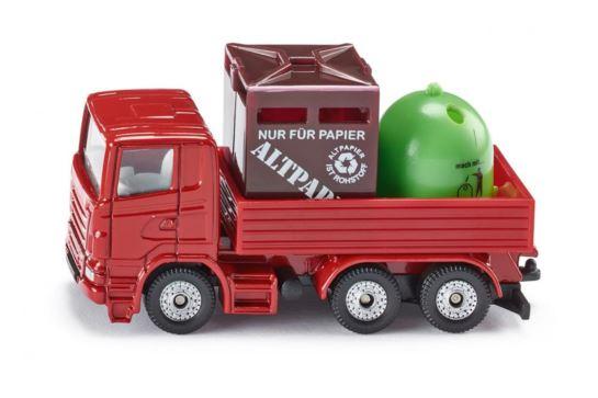Ciężarówka z Pojemnikami Na Odpady