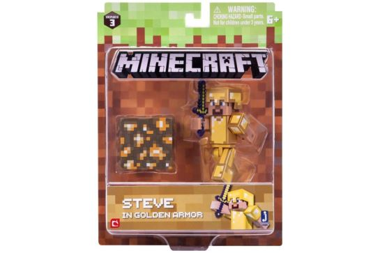 Figurka Minecraft Steve W Złotej Zbroi