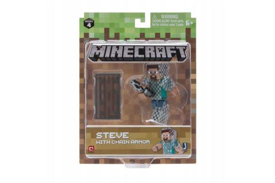 Figurka Minecraft Steve W Zbroi Z Łańcucha MOJANG