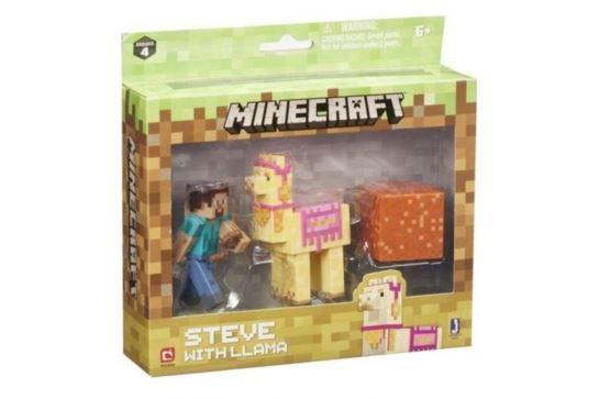 Figurka Minecraft Steve z Lamą MOJANG