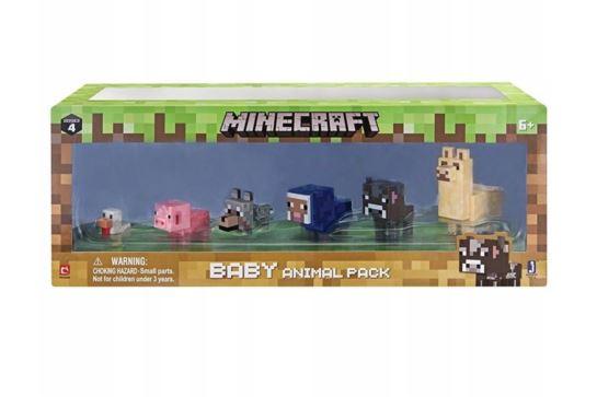 Minecraft Zestaw Figurek Młodych Zwierząt Domowych MOJANG