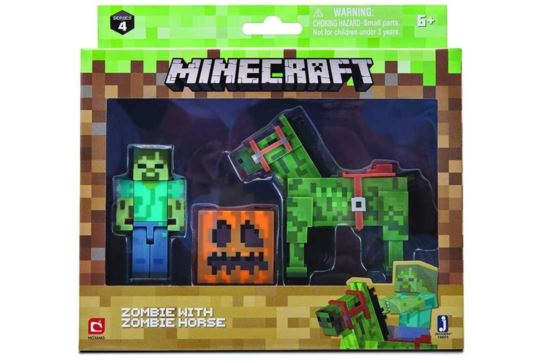 Zestaw Minecraft Figurka Zombie z Zombie Koniem
