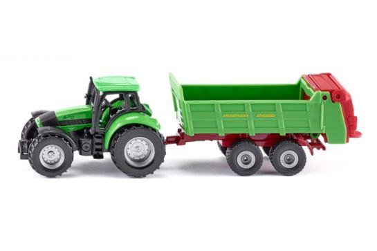 Siku 1673 Traktor z Rozrzutnikiem Obornika
