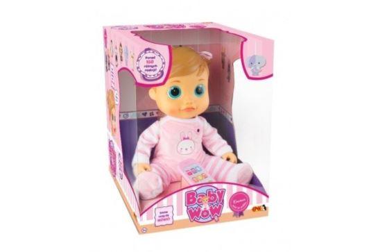 Lalka mówiąca Emma Baby Wow interaktywna 38 cm.