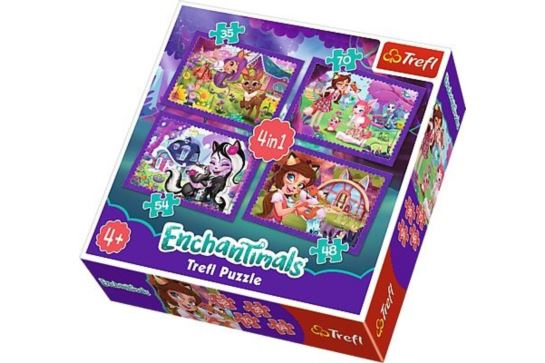 Puzzle 4w1 - Zabawa z Pupilami Enchantimals