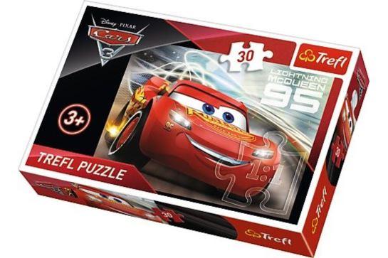 Puzzle 30 el. Zygzak McQueen Auta 3 Cars Trefl 18215
