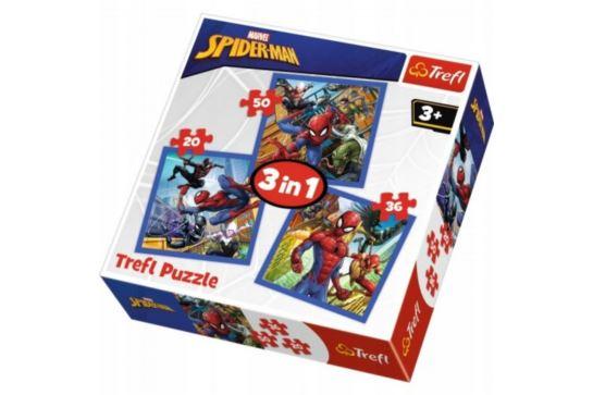 Puzzle 3w1 - Pajęcza Siła Spidermana Trefl 34841