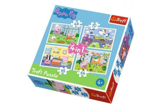 Puzzle Trefl 4 w 1 Peppa Wspomnienia z Wakacji