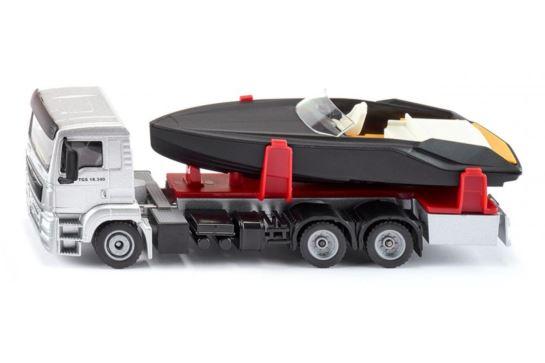 Siku 2715 Ciężarówka Man z Motorówką Na Lawecie
