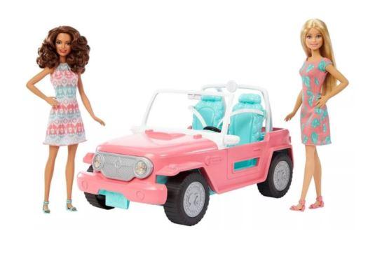 Barbie Samochód Jeep + 2 Lalki - Mattel FPR59