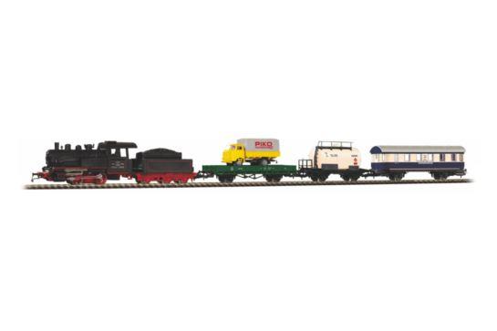 PIKO 97923 Zestaw Startowy z Parowozem i 3 Wagonami