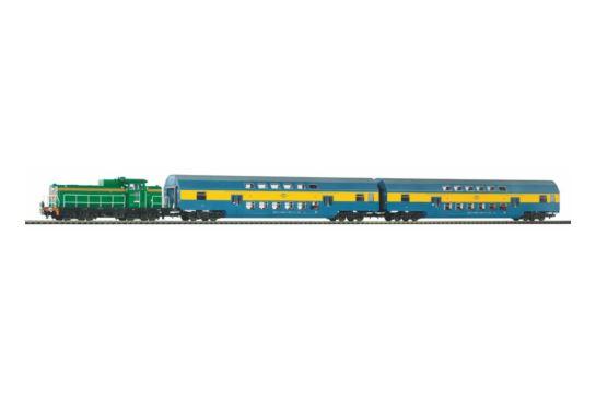 PIKO 97934 Zestaw Osobowy Piętrowy SM42 PKP z Podsypką