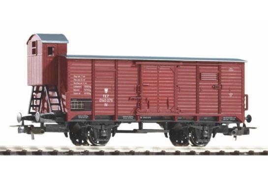 PIKO 58927 Wagon Towarowy Kryty z Budką PKP Ep.III