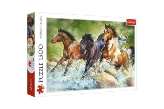 Puzzle Trefl 1500 el. Trzy Dzikie Konie