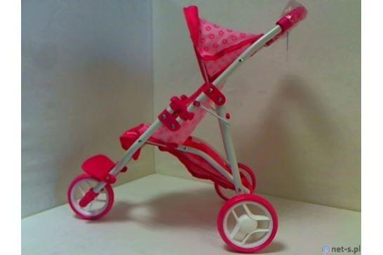 Wózek lalkowy spacerowy 3 kołowy