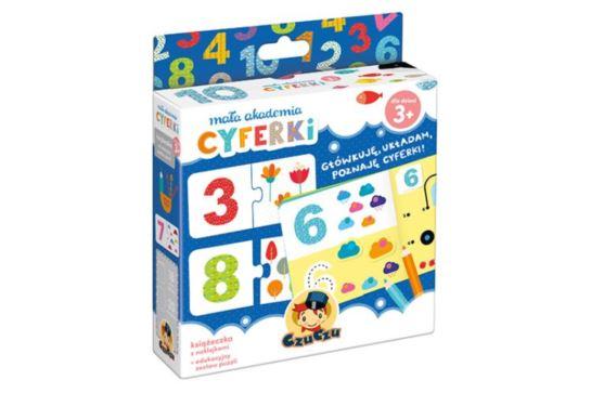 CzuCzu Mała Akademia Cyferki Książeczka z Naklejkami + Puzzle