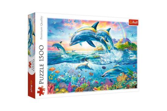 Puzzle Trefl 1500 el. Rodzina Delfinów