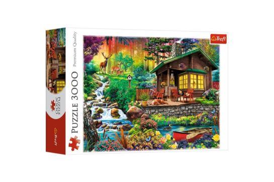 Puzzle Trefl 3000 el. Chatka w Lesie