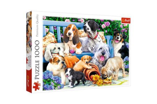 Puzzle Trefl 1000 el. Psy w Ogrodzie