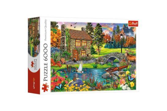 Puzzle Trefl 6000 el. Chatka w Górach