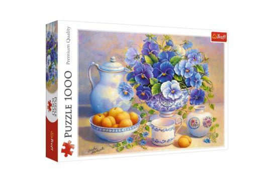 Puzzle Trefl 1000 el. Niebieski Bukiet