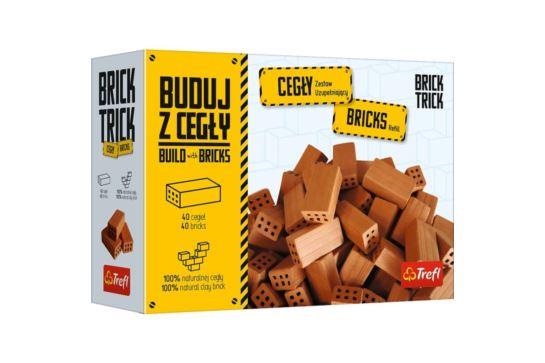 Buduj z Cegły - Cegły Pełne 40 sztuk Brick Trick