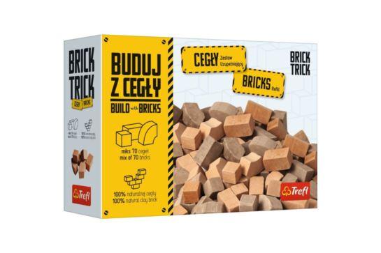 Buduj z Cegły 70 Cegieł Zamkowych Mozaika 70 szt