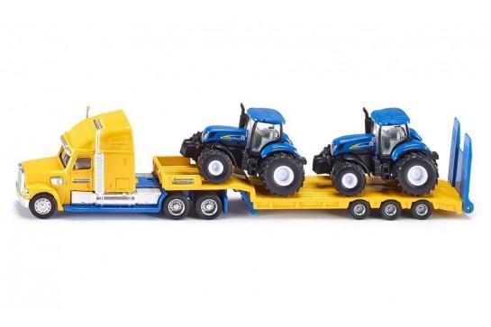 Ciężarówka z Traktorami New Holland Siku 1805