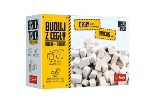 Buduj z Cegły Zamkowe Białe 70 Cegieł Brick Trick