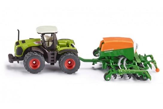 Traktor z Siewnikiem Amazone Siku Farmer 1826