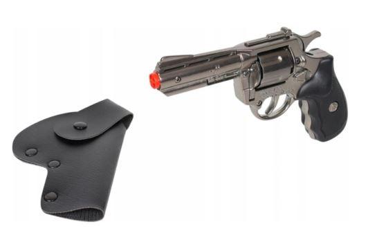 Metalowy Rewolwer Pistolet Na Kapiszony z Kaburą Gonher