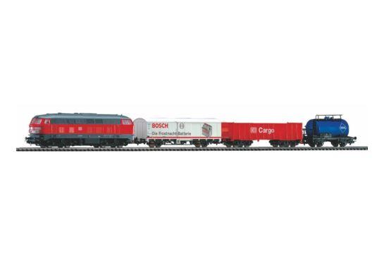 PIKO 57154 Zestaw Startowy Towarowy BR 218 DB z Podsypką