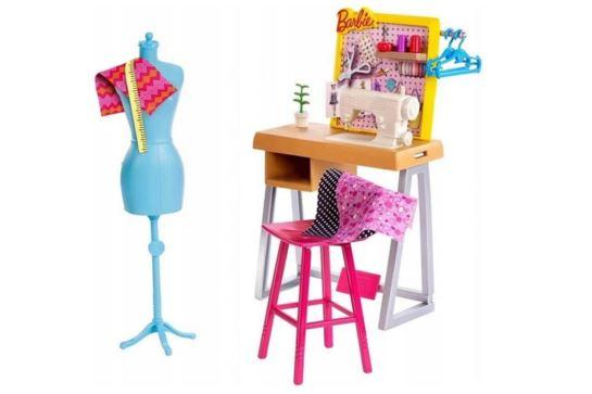 Mebelki Dla Barbie Pracownia Krawiecka Krawcowa Mattel FXP10