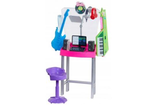 Mebelki Dla Barbie Studio Nagrań Mattel GJL67