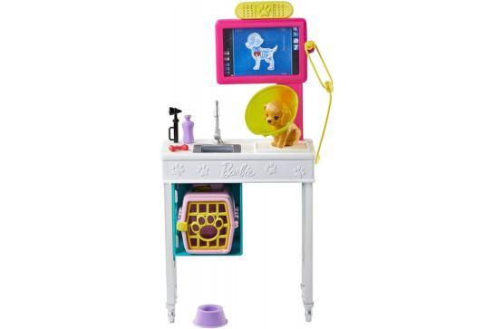 Mebelki Dla Barbie Gabinet Weterynaryjny Weterynarz Mattel GJL68