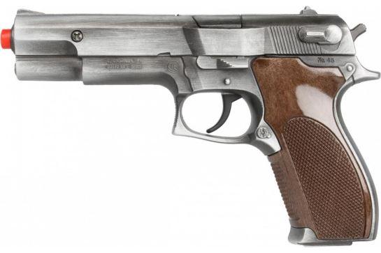 Metalowy Pistolet Na Kapiszony Policyjny Gonher 45/1