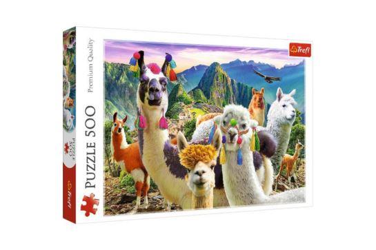 Puzzle Trefl 500 El. Lamy w Górach