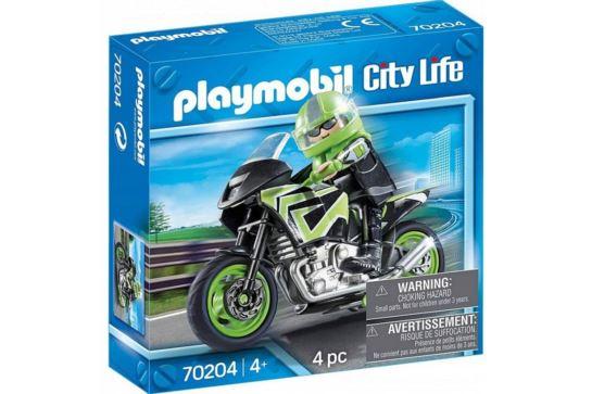 Playmobil 70204 Motocyklista z Motorem