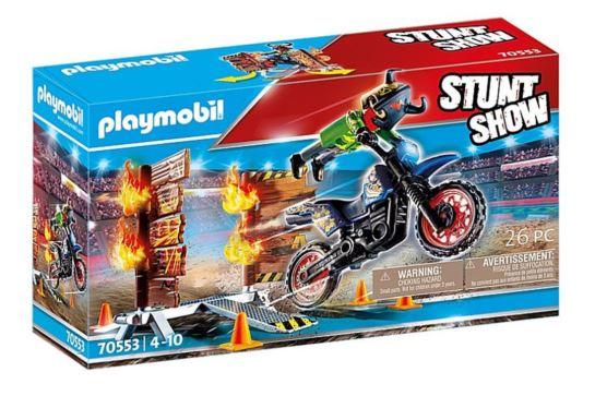 Playmobil 70553 Motor z Płonącą Przeszkodą Pokaz Kaskaderski